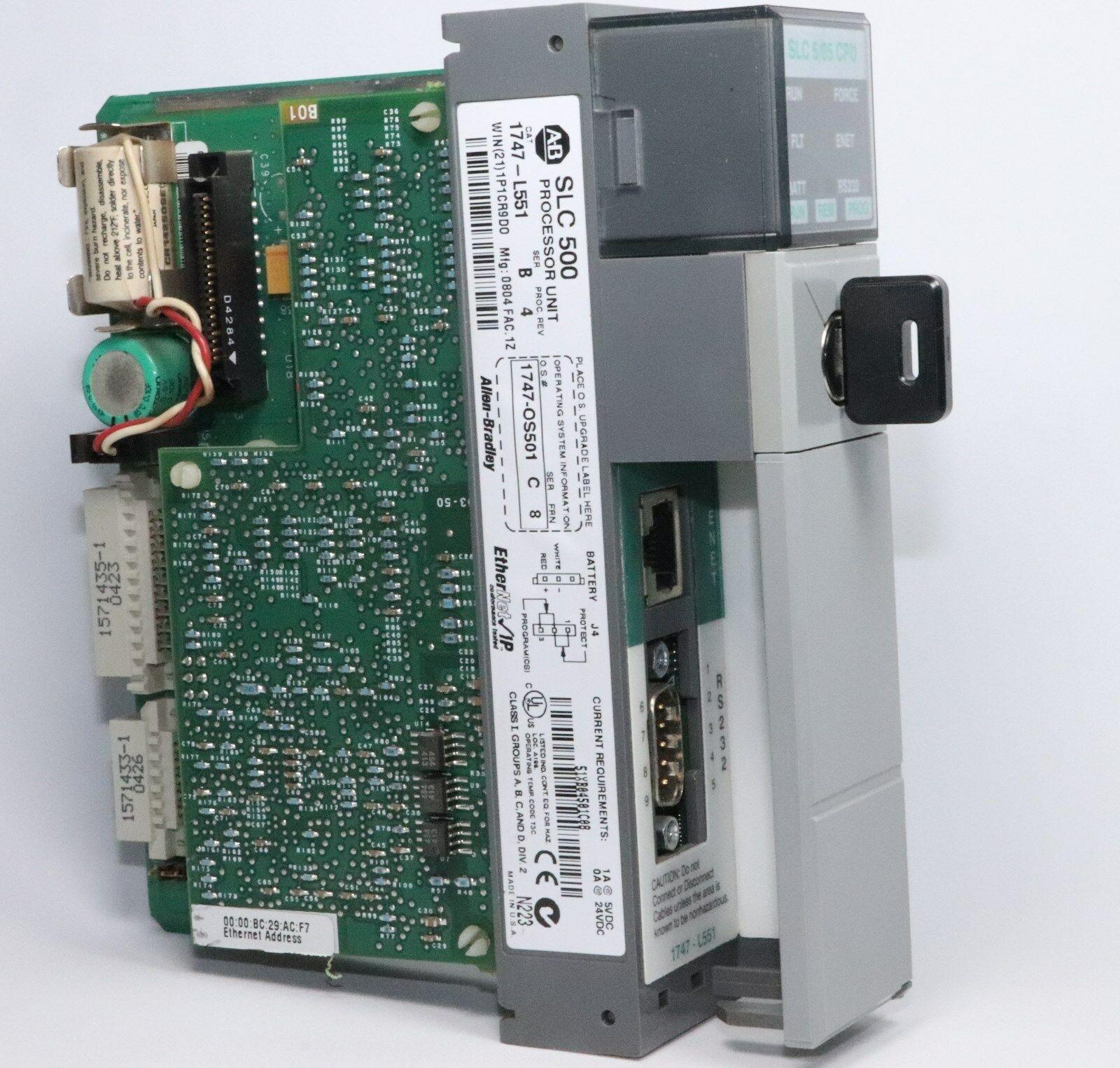 1747-L551处理器单元SLC 5/05 16K Controller