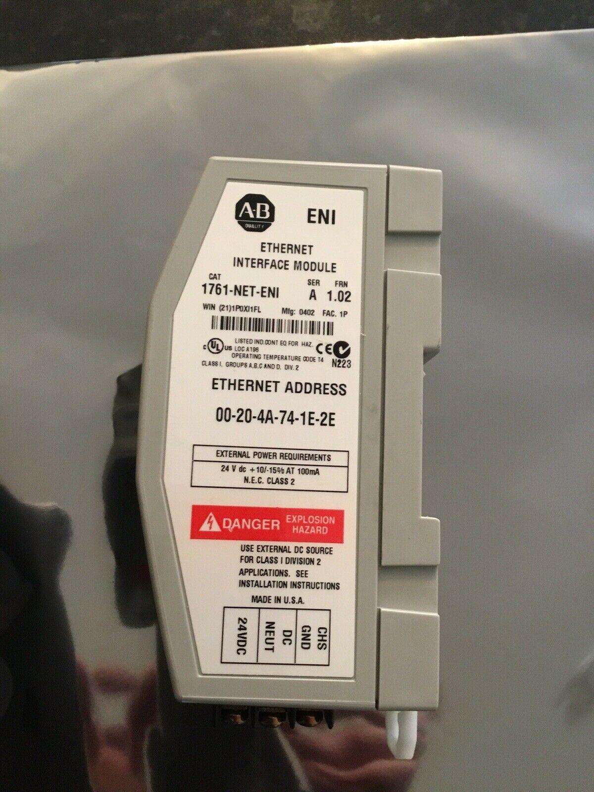通讯模块: 1761-NET-ENI